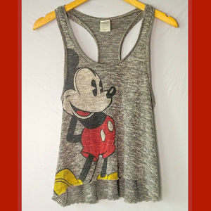 Disney Mickey Mouse Hi-Low Racerback Crop Tank